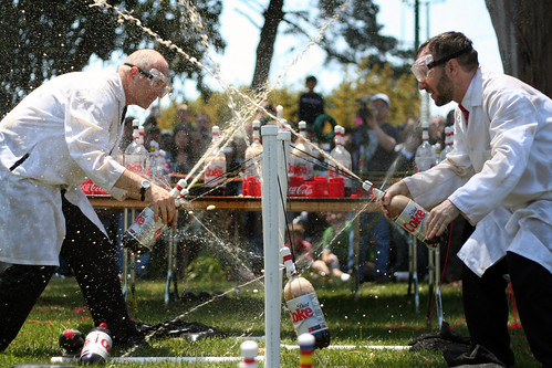 Swinging Coke geysers