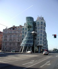 Dancing Building (Ms Kat) Tags: architecture prague praha gehry dancingbuilding mrowrr