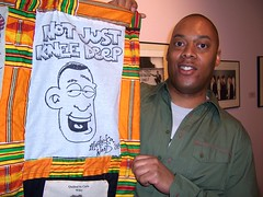 Masheka and his 2006 quilt panel