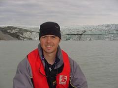 Mike on glacial lake