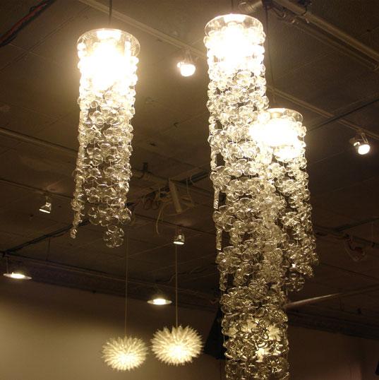HauteGreen 2007, Green design exhibition, HauteGREEN, New York Design Week, Reclaiming Design, Michelle Brand Cascade Lamps 2