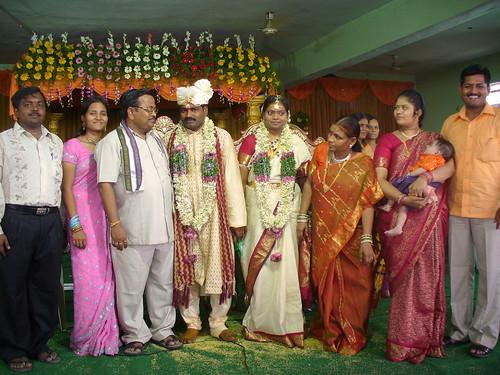 Mariés et leurs familles