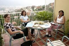 Rosie Gilbert, Elsy de Machado and Luz Maria