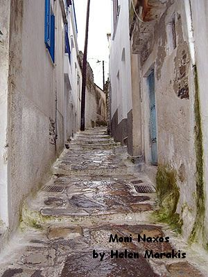 The marrow streets of Moni Naxos