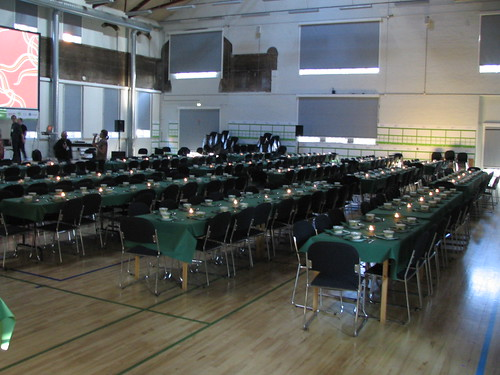 The Big Hall Becomes Dining Hall