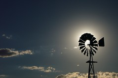 hot 'n dry (Leonard John Matthews) Tags: sky cloud sun hot windmill dry australia drought firsttheearth mythoto flickrawardgallery
