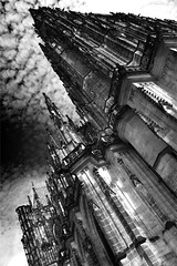 Katedrála Svatého Víta *Special Edition* (Million Seven) Tags: katedrálasvatéhovíta katedralasvatehovita saintvituscathedral catedraldesanvito vaclavaavojtecha václavaavojtěcha hradiiinádvoří hradiiinadvori pražskýhrad prazskyhrad praguecastle castillodepraga hradcany hradčany praguecastlecomplex complex praha prague praga bohemia czechrepublic repúblicacheca českérepubliky ceskerepubliky castillo castle catedral cathedral academy europa europe church iglesia gothic stainedglass showcase middleages romancatholic princewenceslas wenceslas václav vaclav bishop petrparléř peterparler monsters gargoyles towers sculptures gotico gótico bohemian kings holyromanemperors holyromanempire amazing style sky medieval religion capital king architecture arch diagonal imperial blackwhite bw darkgothic specialedition nikon nikond3100 millionseven