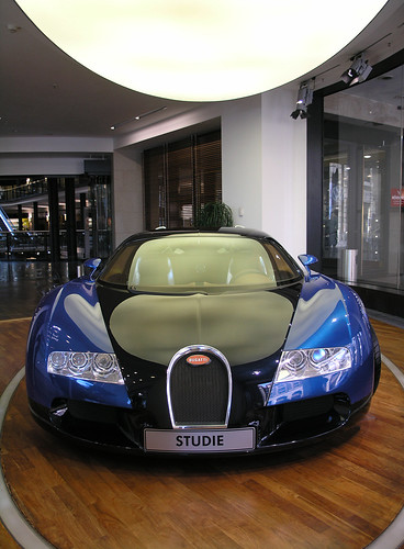 Front view from a Bugatti Veyron