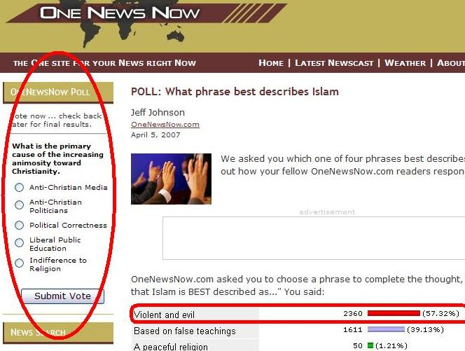 "One""News""Now Bias Poll"