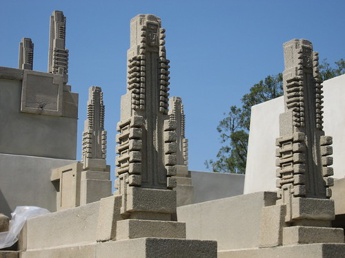 Hollyhock House, hollyhocks