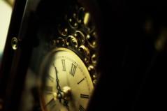 Not so old (bockmanca) Tags: old clock dark mantle