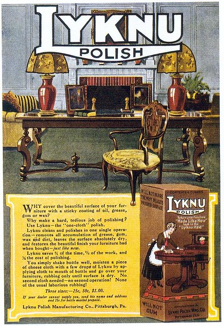 Lyknu Furniture Polish, 1919