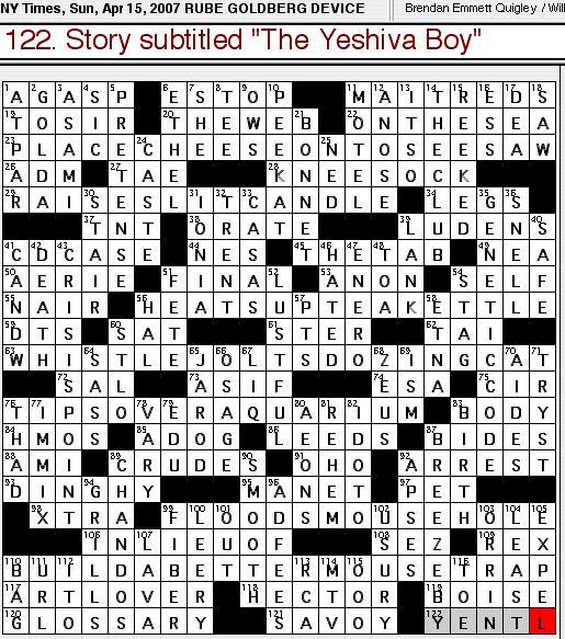 Rex Parker Does The Nyt Crossword Puzzle Sunday Apr 15 2007 Brendan Emmett Quigley