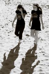 Shadows Lead the Way (Steve Crane) Tags: shadow southafrica women capetown gordonsbay westerncape bikinibeach