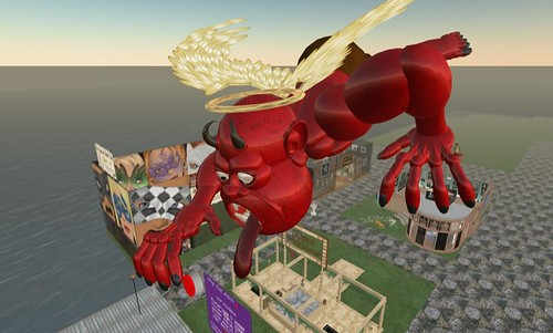 A weird thing floating above the Sweet Leaf area in Second Life