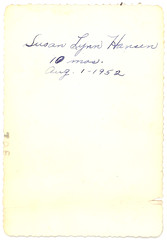 (Brunocerous) Tags: ink handwriting found august script handwritten cursive 1952 forpam susanlynnhansen