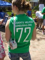students helping honduras walkathon