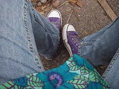 Lookin' down (heavdog) Tags: feet shoes purple converse allstar chucks chucktaylors converseallstars