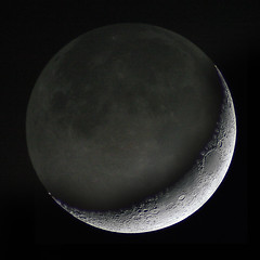 Crescent Moon with Earthshine - by markkilner