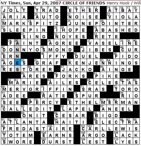 Re lative difficulty Challenging  sc 1 st  Rex Parker - blogger & Rex Parker Does the NYT Crossword Puzzle: April 2007 25forcollege.com