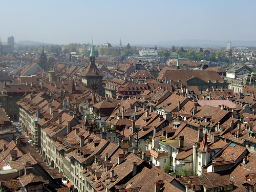 view of Bern from Münster Cathedral