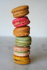 Tower of Pierre Hermé macarons