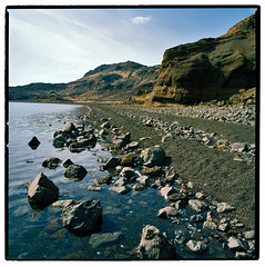 Lake Kleifarvatn (trommuheili) Tags: people cliff lake nature water ecology stone square landscape landscapes iceland scenery energy europe fuji stones hasselblad land destination environment environmentalism sland ecosystem isl rocksandminerals energysource landslag naturalresources touristdestinations ferningur flk feramennska feramenn