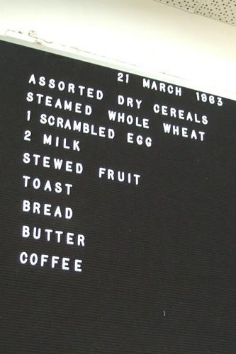 prison menu