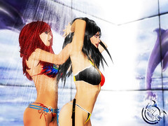 SL Bikini Project: Vint Falken for Belgium (in the shower with Rejeanne)
