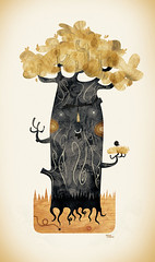 Nest (Alberto+Cerriteo) Tags: wood orange bird illustration digital arbol three madera nest character alberto ave nido naranja pjaro personaje ilustracin cerriteno cerriteo