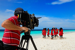 National Geographic behind the scene (muha...) Tags: camera blue red beach brad islands dance locals ngc culture highdefinition shooting resorts maldives nationalgeographic natgeo villamendhoo maldivian 050507 muha interestingness52 supershot maldivians i500 nikonstunninggallery muhaphotos 24hoursofflickr nationalgeographicchennelasia ngcasia braddillon mostwantedpixtv mostwantedpictures harryteper