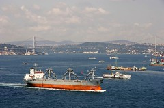 Bosphorus Shipping Traffic, Istanbul July, 2006 (Ivan S. Abrams) Tags: coastguard docks turkey boats us mediterranean ataturk ships istanbul lighters nautical shipping tugs straits ports blacksea gallipoli ferries harbors watercraft bosphorus tugboats vessels freighters tankers harbours cruiseships barges smrgsbord warships bogaz destroyers ferryboats navyships speedboats frigates internationaltrade classicboats seaofmarmara navies containerships portcities oceanliners navalvessels europeandasia bulkcarriers ustrains bosphorusshipping asiaandeurope chokepoints onlythebestare boatnerd ivansabrams trainplanepro internationalshipping sealanes ivanabrams tucson3985 worldwideshipspotters servicecraft oceancommerce boxcarriers feriobots coastalfreighters marinecommerce internationalcommerce maritimecommerce seaportsseaportmaritime crossroadsasiaeuropebosforbogazasia minorboxesintermodal tugobats copyrightivansafyanabrams2009allrightsreservedunauthorizeduseprohibitedbylawpropertyofivansafyanabrams unauthorizeduseconstitutestheft thisphotographwasmadebyivansafyanabramswhoretainsallrightstheretoc2009ivansafyanabrams abramsandmcdanielinternationallawandeconomicdiplomacy
