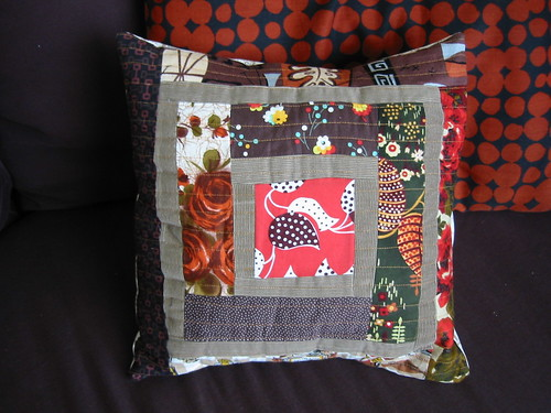 my second log cabin pillow