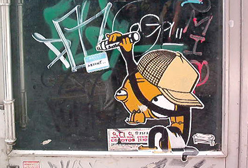 Monkey Sticker in Bairro Alto, Lisboa