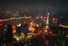 City by the sea (eyecatcher) Tags: china cityscape shanghai cities pudong orientalpearltower shanghainights megacities