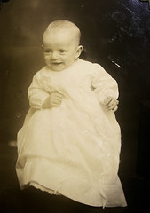 glowing baby picture, grandpa