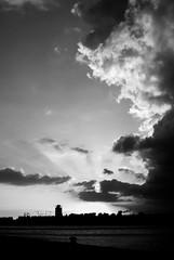 Javaeiland uitzicht Z/W - by Shiratski