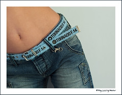 Teenager fashion (Waechor) Tags: blue girl fashion 50mm belt nikon body d70s bodylanguage belly jeans tummy teenager highfive posture language nikkor bellybutton navel amateurs myfavs faved 50mmf14d abeauty amateurshighfive invitedphotosonly