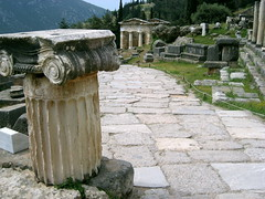 Sacred Way at Delphi (Josh Clark) Tags: delphi greece ancient ruins columns
