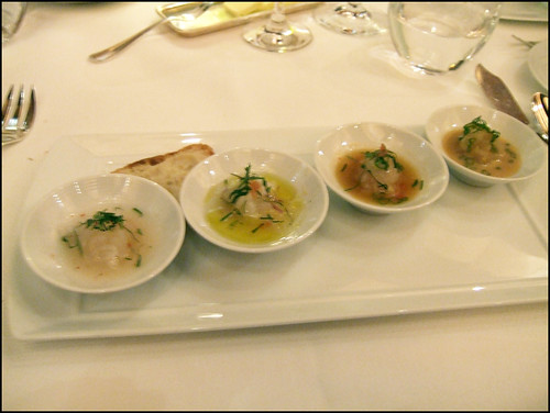 Le Bernardin (New York) - Progressive tasting of fluke