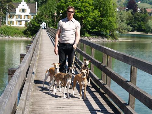 Urlaub Schweiz: Andi mit Nisha, Lilly, Ayrheen und Coco