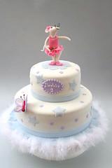Torta Angelina Ballerina (BravaBravaMariarosa) Tags: pink ballet topo butterfly stars mouse decoration rosa birthdaycake torta farfalla lightblue celeste stelle decorazioni angelinaballerina danzaclassica tortadicompleanno