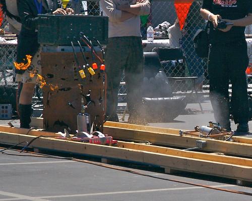 Power Tool Drag Racing Track Shredding Action!