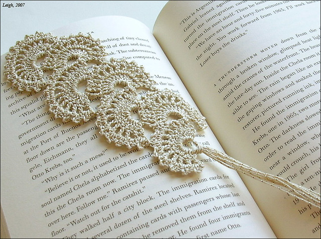 Fan Crochet Bookmark