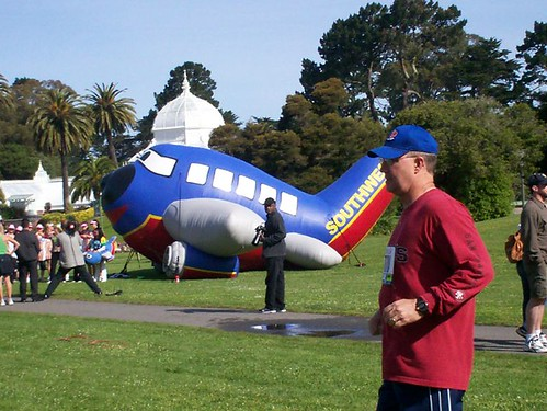 blow-up Southwest Airlines display at Golden Gate Park