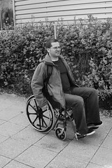 conor in wheelchair (Dave Road Records) Tags: