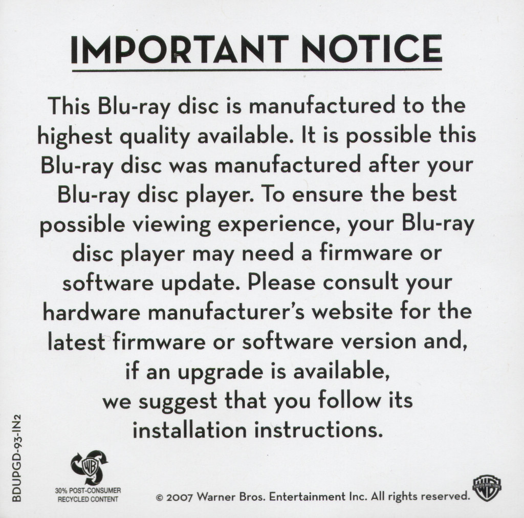 blu-ray notice