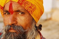 Sdhu. Varanasi, India (fredcan) Tags: travel portrait india catchycolors religion varanasi hinduism sadhu 2007 holyman indianportraits ccpb0707 worldphotodoc2007