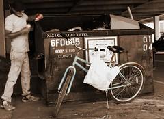 Reliable Transportation (Damgaard, (TheObsessivePhotographer.com)) Tags: street city man motion blur bike