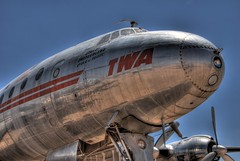 TWA Super Constellation (AshSLO) Tags: old arizona airplane flying tucson nostalgic connie hdr twa airliner pimaairspacemuseum superconstelation